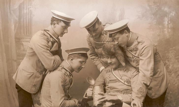 Corps Athesia Fuchsmajor und Füchse  um 1910